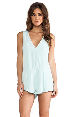 Finders Keepers here Comes the Sun Playsuit in Glacier Blue