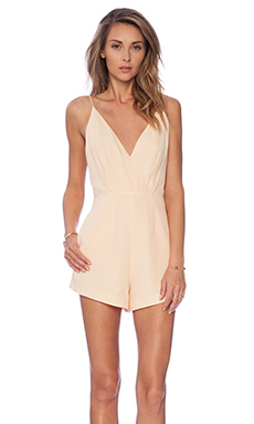 Finders Keepers All Time High Cut Out Romper in Golden Fleece