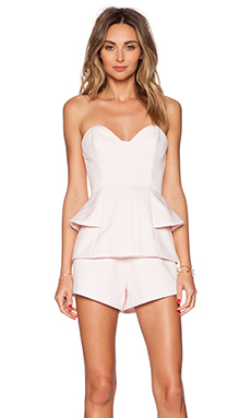 Finders Keepers Take a Shot Playsuit in Powder Pink