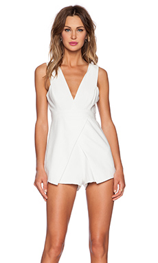 Finders Keepers Basic Instinct Playsuit in White