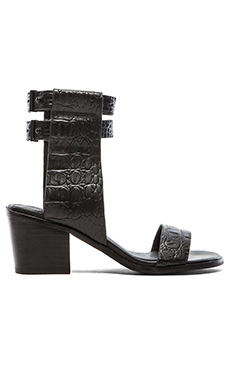 Finders Keepers Cuffed Sandal in Black Croc