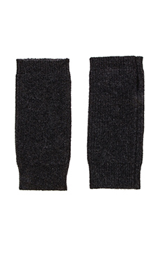 Fine Collection Fingerless Mittens in Black