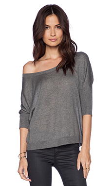 Fine Collection Dolman Sleeve Sweater in Heather Anthracite