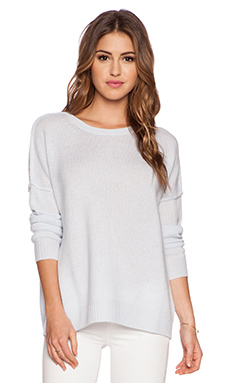 Fine Collection Long Sleeve Sweater in Ice