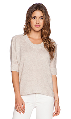 Fine Collection 3/4 Sleeve Sweater in Heather Beige