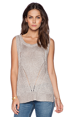 Fine Collection Knit Tank in Sand