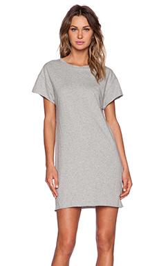 First Base Tee Dress in Grey Marle