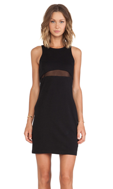 First Base Mesh Surf Mini Dress in Black