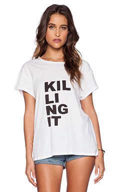 First Base Killing It Tee in White