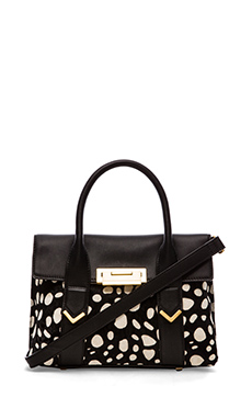 FLYNN Hudson Tote in Black & White