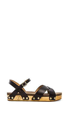 Flogg Nessy Sandal in Black Leather