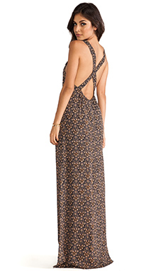 FLYNN SKYE Apron Maxi Dress in Dark Daisy