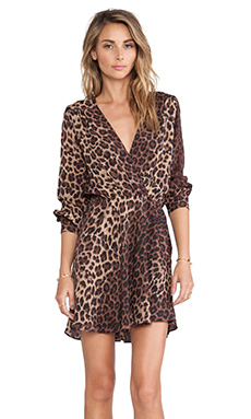FLYNN SKYE Elle Mini Dress in Leopard