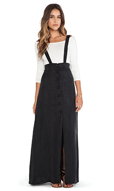 FLYNN SKYE Moss Maxi Skirt in Nero