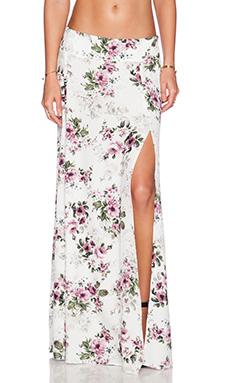 FLYNN SKYE Rara Skirt in White Gatsby