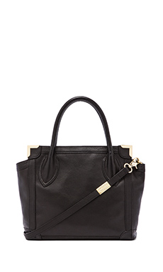 Foley + Corinna Framed Mini Shopper in Black