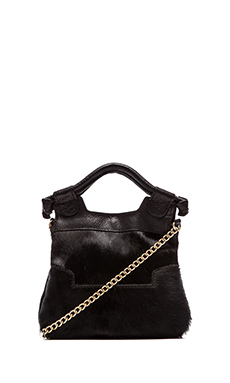 Foley + Corinna Tiny City Tote in Black Pony