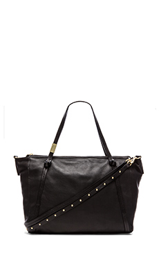Foley + Corinna Tight Rope Satchel in Black