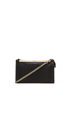 Foley + Corinna Barred Crossbody in Black