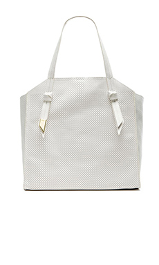 Foley + Corinna Tye Tote in White Perf