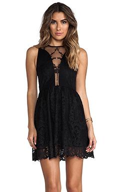 For Love & Lemons Lulu Lace Dress in Black