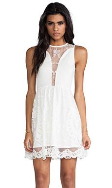 For Love & Lemons Lulu Dress in Ivory Lace