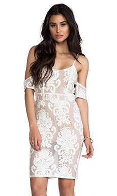 For Love & Lemons Vienna Dress in Ivory