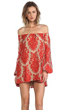 For Love & Lemons Precioso Mini Dress in Red