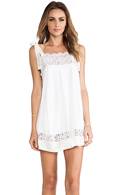 For Love & Lemons Bo Peep Dress in Off White