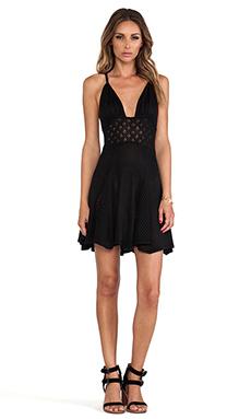 For Love & Lemons Dolly Knit Dress in Black