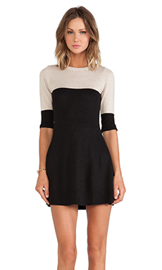 KNITZ by For Love & Lemons BRR Dress in Black & Ivory