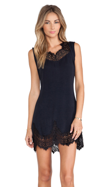 For Love & Lemons Gilly Girl Mini Dress in Black