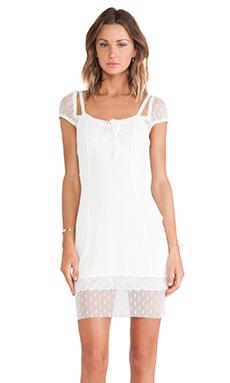 For Love & Lemons Lil' Darlin Polka Dress in White Dot