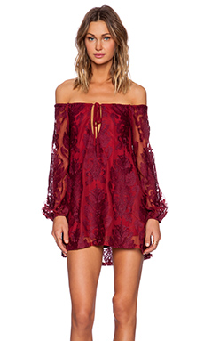For Love & Lemons Sangria Dress in Crimson