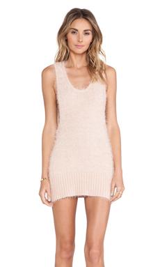 KNITZ by For Love & Lemons Ski Bunny Tank Dress in Blush
