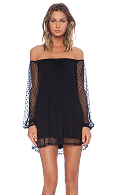 For Love & Lemons Precioso Dress in Black Dot