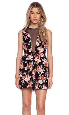 For Love & Lemons Lulu Dress in Floral Cord