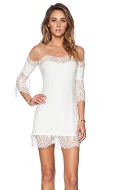 For Love & Lemons Belle Mini Dress in White