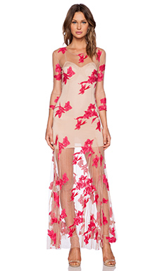For Love & Lemons Orchid Maxi Dress in Paradise Pink