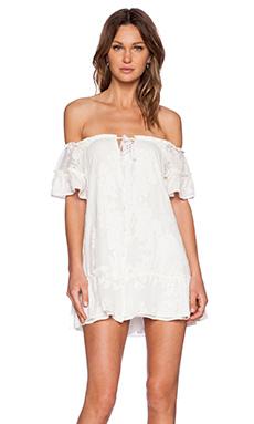 For Love & Lemons Pina Colada Mini Dress in White