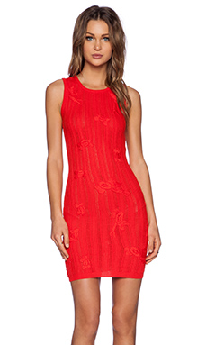 KNITZ by For Love & Lemons Forget Me Not Dress in Red