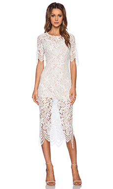 For Love & Lemons Luna Maxi Dress in White
