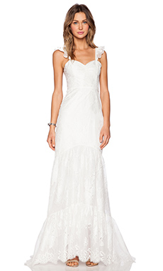 For Love & Lemons x REVOLVE Gillian Wedding Dress in White