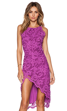 For Love & Lemons Maui Waui Slit Dress in Purple Orchid