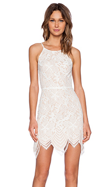 For Love & Lemons Guava Mini Dress in White