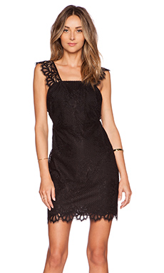 For Love & Lemons Tiki Bar Cocktail Dress in Black