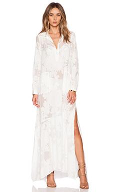 For Love & Lemons Breezy Maxi Dress in White