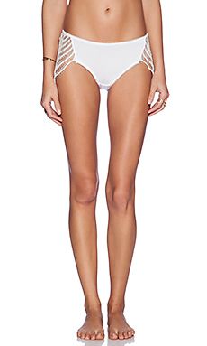 SKIVVIES by For Love & Lemons Snapdragon Cheeky Panty in White