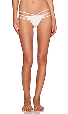 SKIVVIES by For Love & Lemons Strappy Thong in White