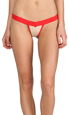 SKIVVIES by For Love & Lemons Valentines Thong in Red